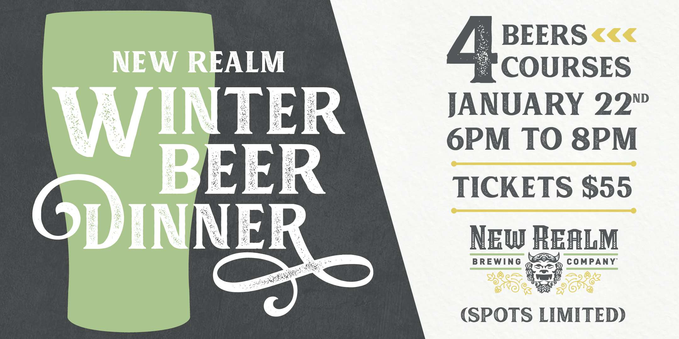 New Realm Beer Dinner Eventbrite 2020 01
