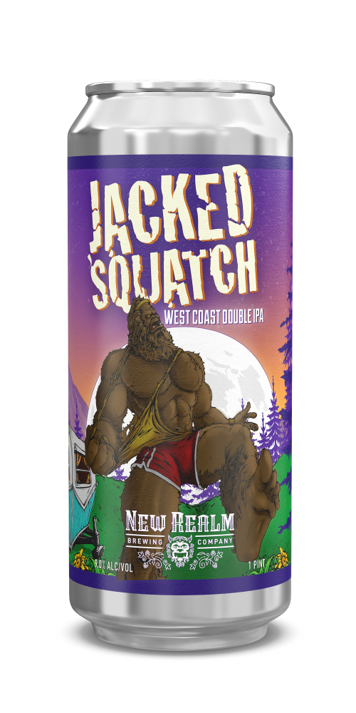 Jacked Squatch West Coast Double IPA   New Realm Brewing Co.