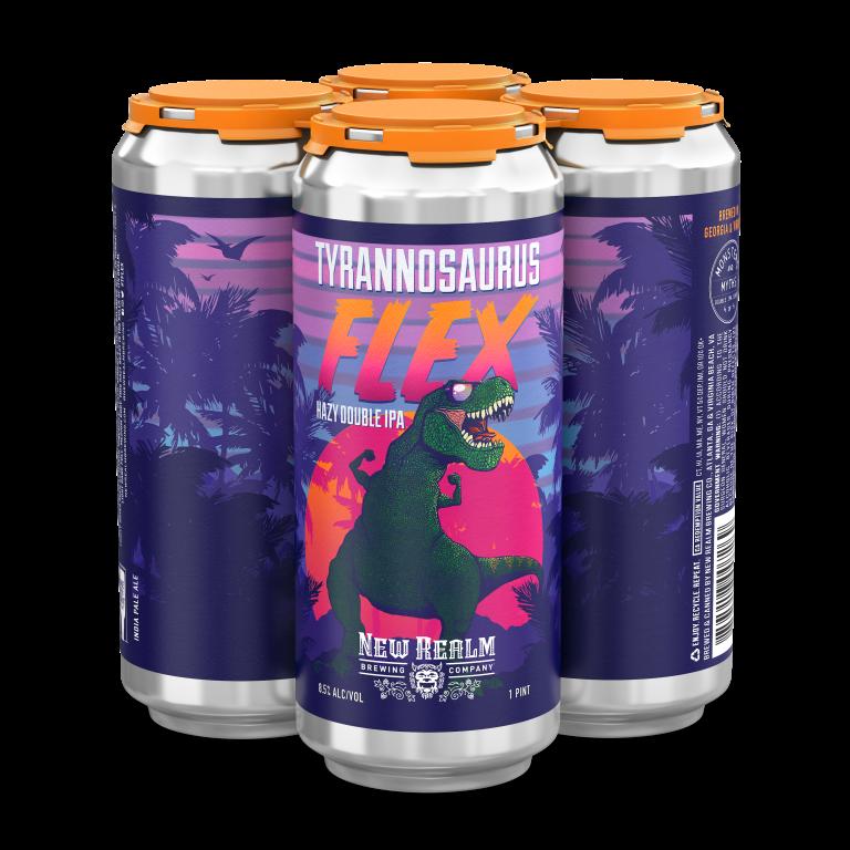 Tyrannosaurus Flex Hazy Double IPA   New Realm Brewing Co.