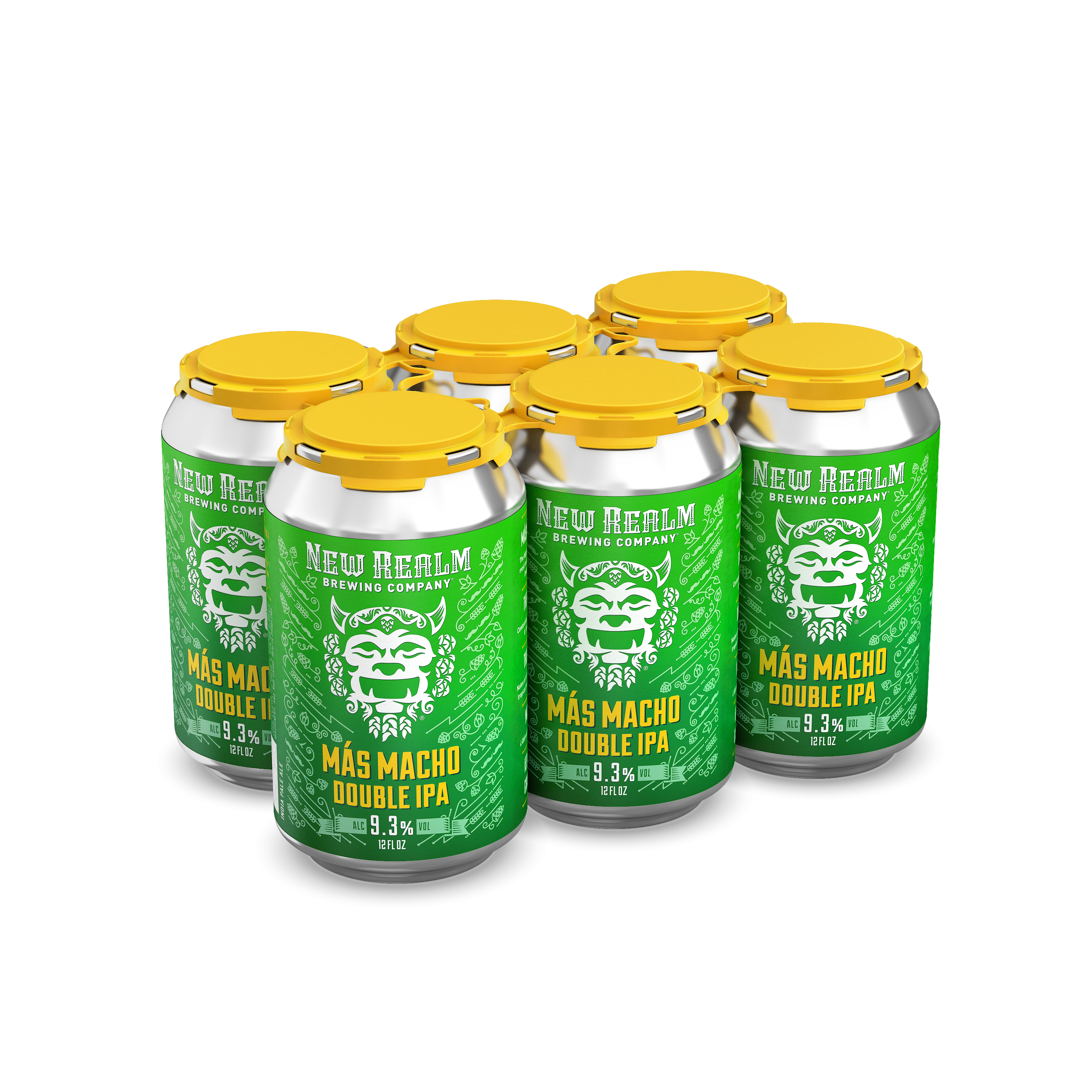 OUTSHINERY NewRealm 6pack Can MasMachoDoubleIPA