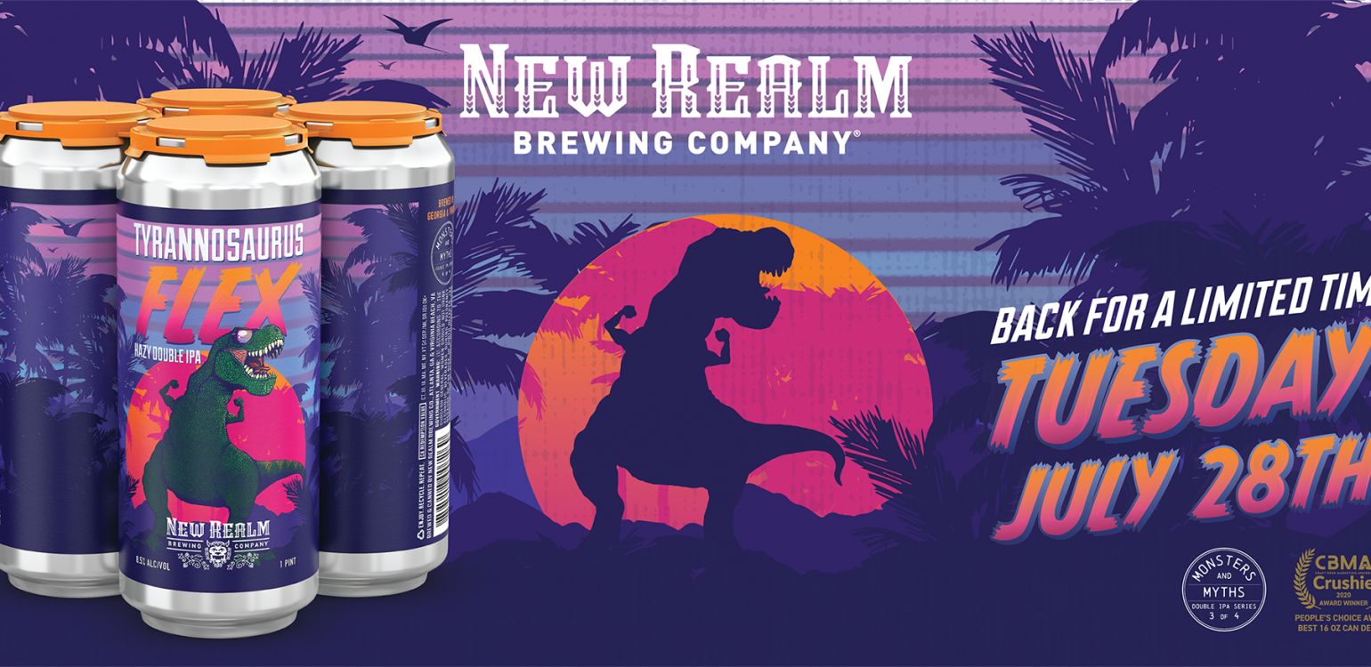 New Realm Brewing's Tyrannosaurus Flex Comes Stomping Back for Third Anniversary